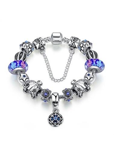 Angemiel Mavi Balkabağı Yıldız Charm Bayan Bileklik